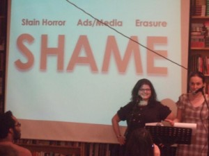 Adventures in Menstruating on S.H.A.M.E., photo by Chris Bobel