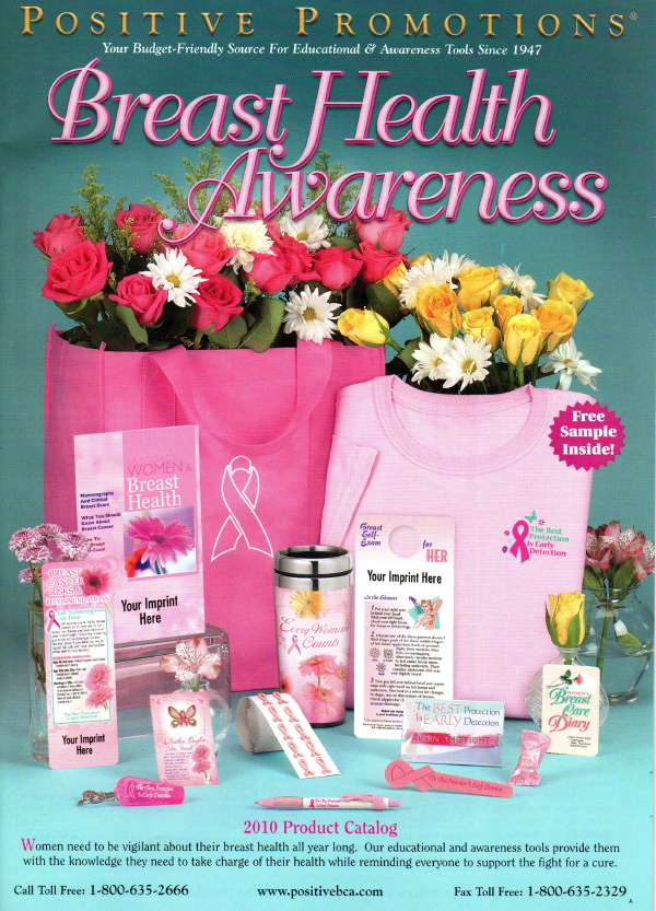 Cover of Breast Cancer Awareness catalog, Spring 2010