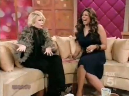 Joan Rivers guests on talk show