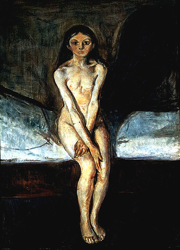 'Puberty' by Edvard Munch. Photo courtesy of Flickr user independentman // CC 2.0
