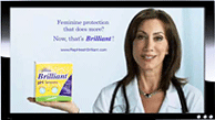 Screen cap of Dr. Lauren Streicher ad