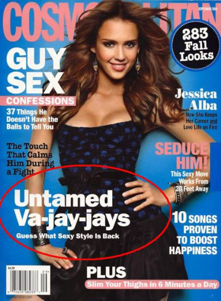 September 2010 cover of Cosmopolitan