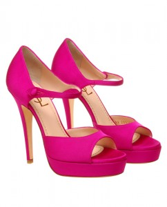 Yves Saint Laurent Satin Peep-Toe Shoes