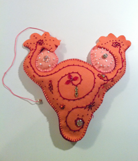 uterus pillow - ovulating